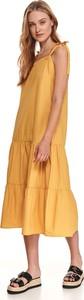 Sukienka Top Secret z okrągłym dekoltem koszulowa midi