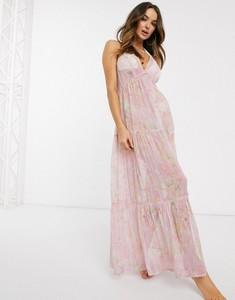 Sukienka Asos z dekoltem w kształcie litery v bez rękawów maxi