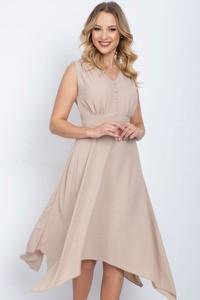 Sukienka Royalfashion.pl midi bez rękawów