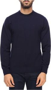 Sweter Emporio Armani w stylu casual z wełny z okrągłym dekoltem