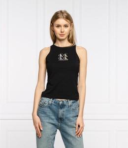 Czarna bluzka Calvin Klein bez rękawów