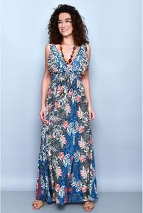 Sukienka Tarifa w stylu boho z dekoltem w kształcie litery v maxi