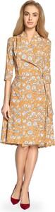 Sukienka MOE z dekoltem w kształcie litery v midi kopertowa