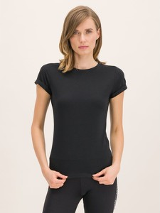 Czarny t-shirt Hugo Boss z okrągłym dekoltem w stylu casual