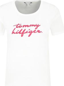 T-shirt Tommy Hilfiger w młodzieżowym stylu z krótkim rękawem