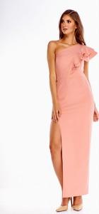 Sukienka Evema z asymetrycznym dekoltem