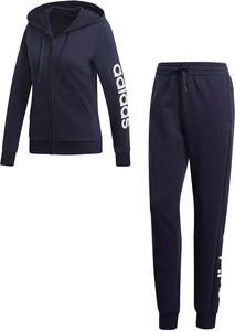 Niebieska bluza Adidas z dresówki