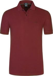 Koszulka polo Boss z bawełny w stylu casual z krótkim rękawem