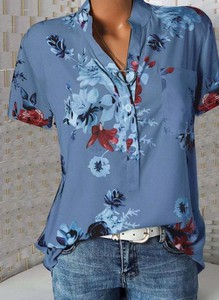 Bluzka Cikelly w stylu casual z bawełny z długim rękawem