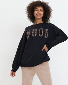 Czarna bluzka Mohito z bawełny w młodzieżowym stylu
