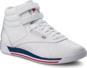 Buty sportowe Reebok w sportowym stylu ze skóry na rzepy