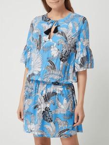 Niebieska sukienka Esprit z długim rękawem