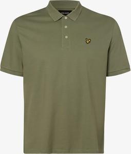Zielona koszulka polo Lyle & Scott z krótkim rękawem w stylu casual