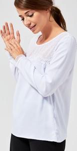 Bluzka Moodo w stylu casual z długim rękawem z okrągłym dekoltem
