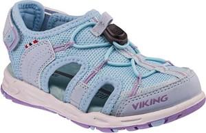 Niebieskie buty dziecięce letnie Viking ze skóry