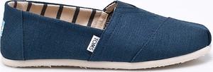 Granatowe buty letnie męskie Toms