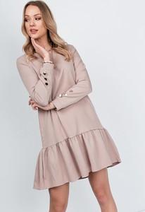 Sukienka ZOiO.pl trapezowa z kołnierzykiem