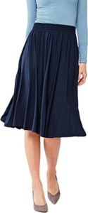 Niebieska spódnica Marie Zélie z tkaniny midi