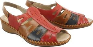 Sandały Rieker w stylu casual na rzepy ze skóry