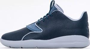 Niebieskie buty sportowe Jordan sznurowane ze skóry