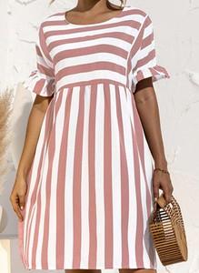 Sukienka Cikelly oversize z bawełny w stylu casual