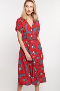 Sukienka QUIOSQUE w stylu casual z dekoltem w kształcie litery v z krótkim rękawem