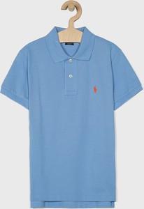 Niebieska koszulka dziecięca POLO RALPH LAUREN z dzianiny
