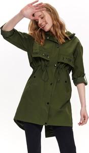 Zielona kurtka Top Secret długa w militarnym stylu
