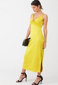 Sukienka V by Very z dekoltem w kształcie litery v na ramiączkach maxi
