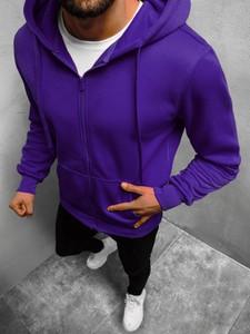 Fioletowa bluza ozonee.pl w młodzieżowym stylu z bawełny