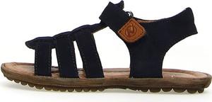 Czarne buty dziecięce letnie Naturino na rzepy dla chłopców