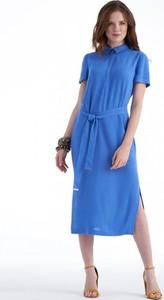 Sukienka POTIS & VERSO z kołnierzykiem w stylu casual