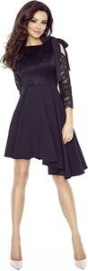 Granatowa sukienka Bergamo z okrągłym dekoltem mini