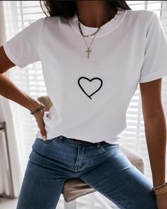 Bluzka Kendallme z okrągłym dekoltem z krótkim rękawem
