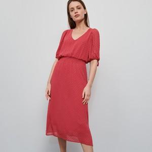 Sukienka Reserved z krótkim rękawem z tkaniny prosta