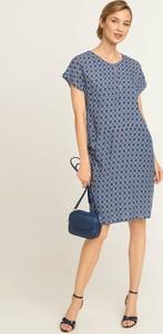 Sukienka QUIOSQUE z krótkim rękawem z dekoltem w kształcie litery v mini