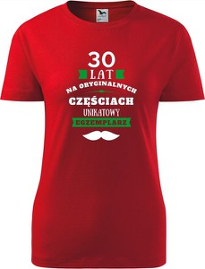 T-shirt TopKoszulki.pl z okrągłym dekoltem z bawełny