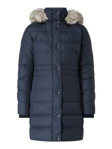 Granatowy płaszcz Tommy Hilfiger w stylu casual