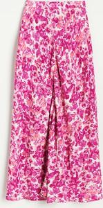 Różowa spódnica Reserved midi w stylu casual