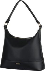 Czarna torebka PUCCINI duża ze skóry ekologicznej
