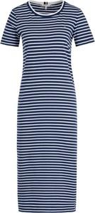 Niebieska sukienka Tommy Hilfiger z krótkim rękawem