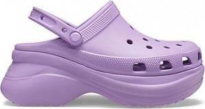 Fioletowe klapki Crocs w stylu casual
