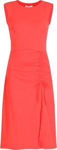 Różowa sukienka Patrizia Pepe midi bez rękawów w stylu casual