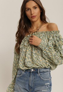 Zielona bluzka Renee z długim rękawem