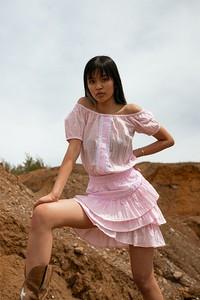 Sukienka Chiara Poland mini z bawełny z krótkim rękawem