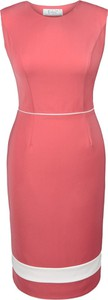 Sukienka Fokus z okrągłym dekoltem midi bez rękawów
