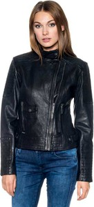 Czarna kurtka Pepe Jeans ze skóry