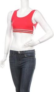 Czerwona bluzka Zaful w sportowym stylu z okrągłym dekoltem