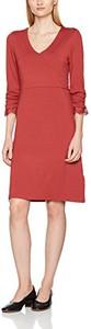 Czerwona sukienka amazon.de z długim rękawem