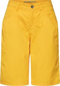 Żółte szorty STREET ONE z bawełny